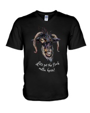 Lets Get The Flock Outta Here Goat Shirt Farmer Sh V-Neck T-Shirt thumbnail