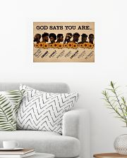 Black King God Says You Are 24x16 Poster poster-landscape-24x16-lifestyle-01
