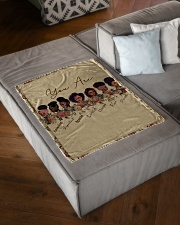 """Proud To Be A Beautiful Black Girl Small Fleece Blanket - 30"""" x 40"""" aos-coral-fleece-blanket-30x40-lifestyle-front-03"""