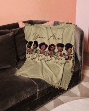 """Proud To Be A Beautiful Black Girl Small Fleece Blanket - 30"""" x 40"""" aos-coral-fleece-blanket-30x40-lifestyle-front-05"""