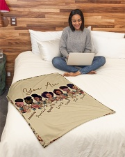 """Proud To Be A Beautiful Black Girl Small Fleece Blanket - 30"""" x 40"""" aos-coral-fleece-blanket-30x40-lifestyle-front-08"""