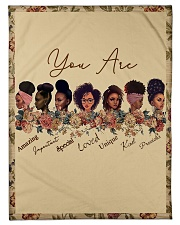 """Proud To Be A Beautiful Black Girl Small Fleece Blanket - 30"""" x 40"""" front"""
