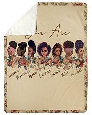 "Proud To Be A Beautiful Black Girl Large Sherpa Fleece Blanket - 60"" x 80"" thumbnail"