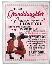 """To My Granddaughter I Love You Small Fleece Blanket - 30"""" x 40"""" thumbnail"""