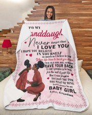 """To My Granddaughter I Love You Large Sherpa Fleece Blanket - 60"""" x 80"""" aos-sherpa-fleece-blanket-60x80-lifestyle-front-11"""