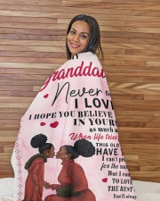 """To My Granddaughter I Love You Large Sherpa Fleece Blanket - 60"""" x 80"""" aos-sherpa-fleece-blanket-60x80-lifestyle-front-12"""