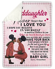 """To My Granddaughter I Love You Large Sherpa Fleece Blanket - 60"""" x 80"""" front"""