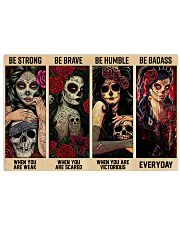 Skull Girls Be Strong Be Brave Be Humble Be Badass 24x16 Poster front