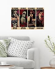 Skull Girls Be Strong Be Brave Be Humble Be Badass 24x16 Poster poster-landscape-24x16-lifestyle-01