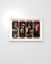 Skull Girls Be Strong Be Brave Be Humble Be Badass 24x16 Poster poster-landscape-24x16-lifestyle-02