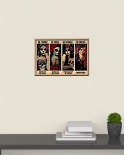 Skull Girls Be Strong Be Brave Be Humble Be Badass 24x16 Poster poster-landscape-24x16-lifestyle-09
