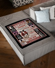 """Black Mom To Daughter Small Fleece Blanket - 30"""" x 40"""" aos-coral-fleece-blanket-30x40-lifestyle-front-03"""