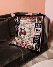 """Black Mom To Daughter Small Fleece Blanket - 30"""" x 40"""" aos-coral-fleece-blanket-30x40-lifestyle-front-05"""