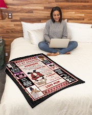 """Black Mom To Daughter Small Fleece Blanket - 30"""" x 40"""" aos-coral-fleece-blanket-30x40-lifestyle-front-08"""