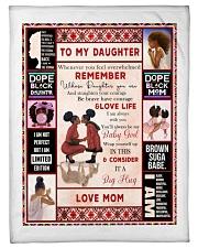 Black Mom To Daughter Fleece Blanket tile