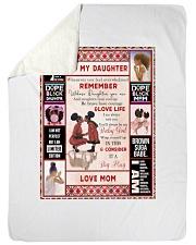 "Black Mom To Daughter Large Sherpa Fleece Blanket - 60"" x 80"" thumbnail"