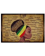 Black Queen I Am Africa  17x11 Poster front