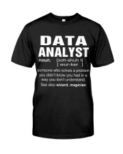 HOODIE DATA ANALYST Classic T-Shirt tile