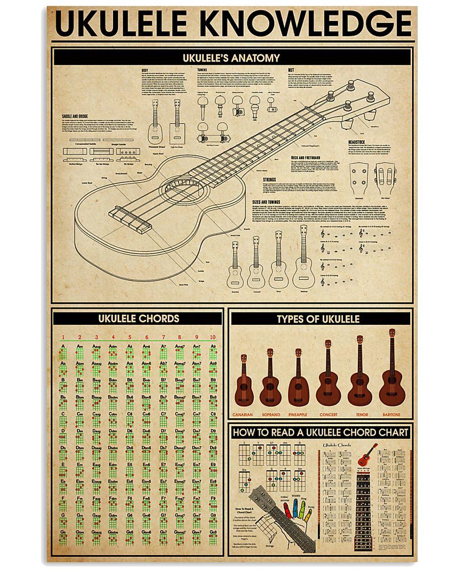 UKULELE KNOWLEDGE 11x17 Poster