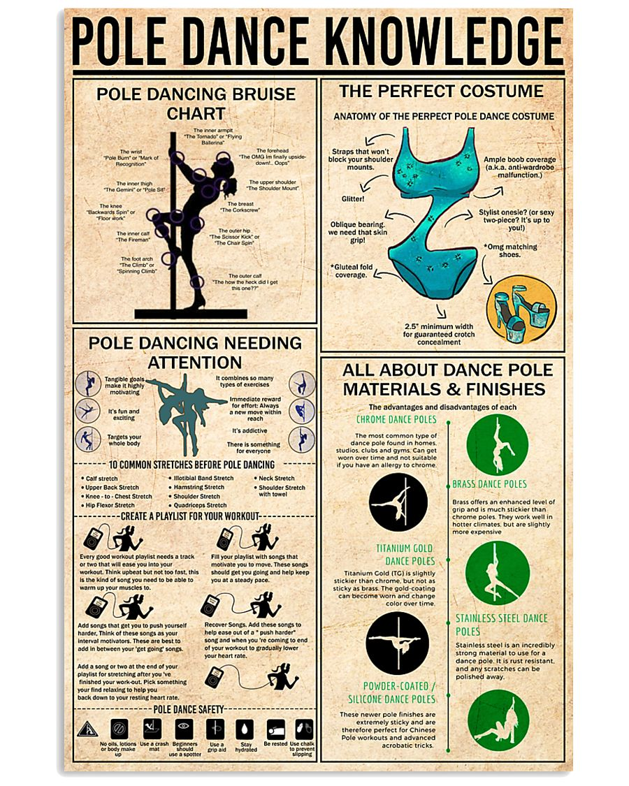 POLE DANCE KNOWLEDGE 24x36 Poster