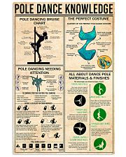 POLE DANCE KNOWLEDGE 24x36 Poster front