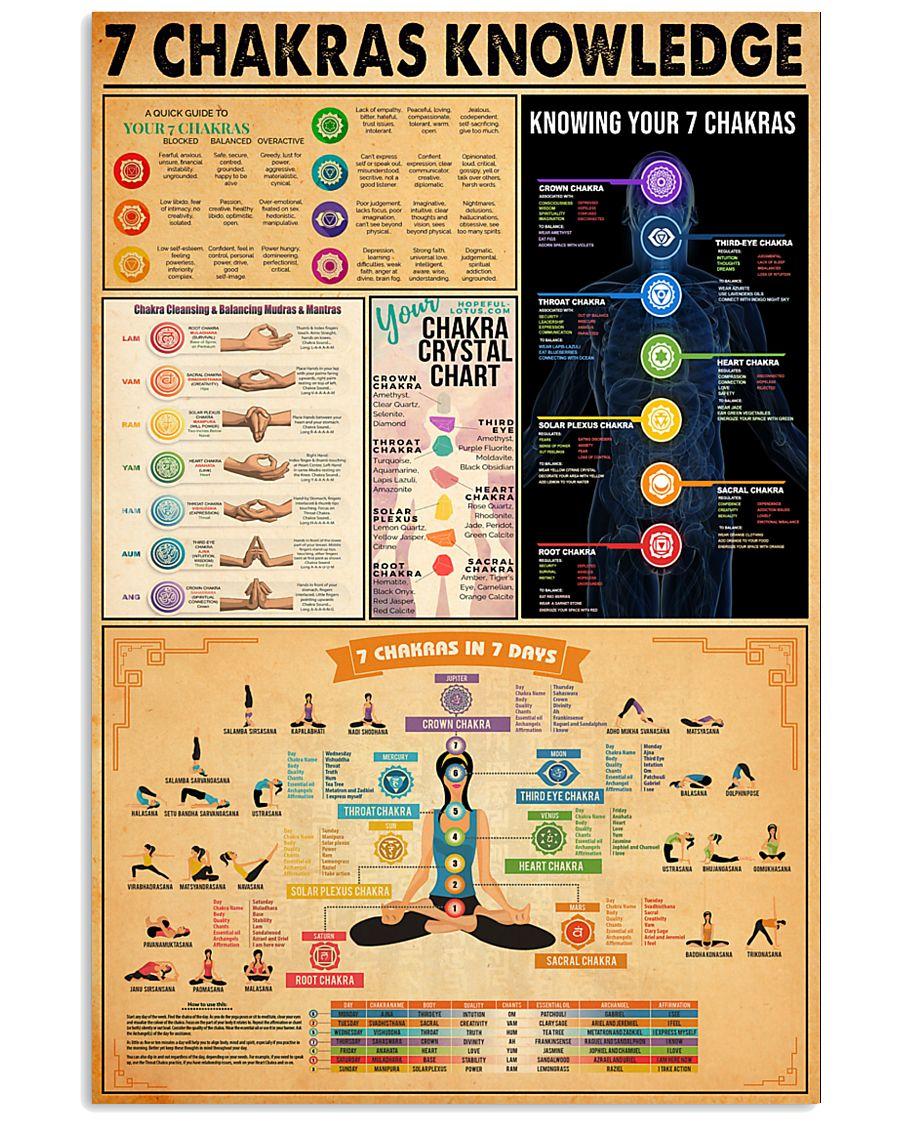 7 CHAKRAS KNOWLEDGE 11x17 Poster