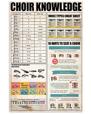 CHOIR KNOWLEDGE 11x17 Poster front