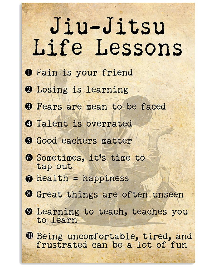 JIU-JITSU LIFE LESSONS 24x36 Poster