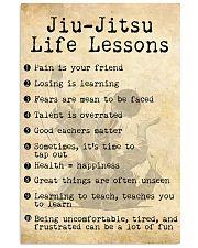 JIU-JITSU LIFE LESSONS 24x36 Poster front