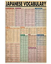JAPANESE VOCABULARY 24x36 Poster front