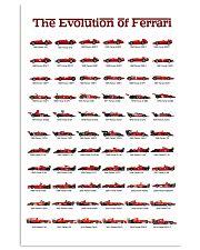 THE EVOLUTION OF FERRARI 24x36 Poster front