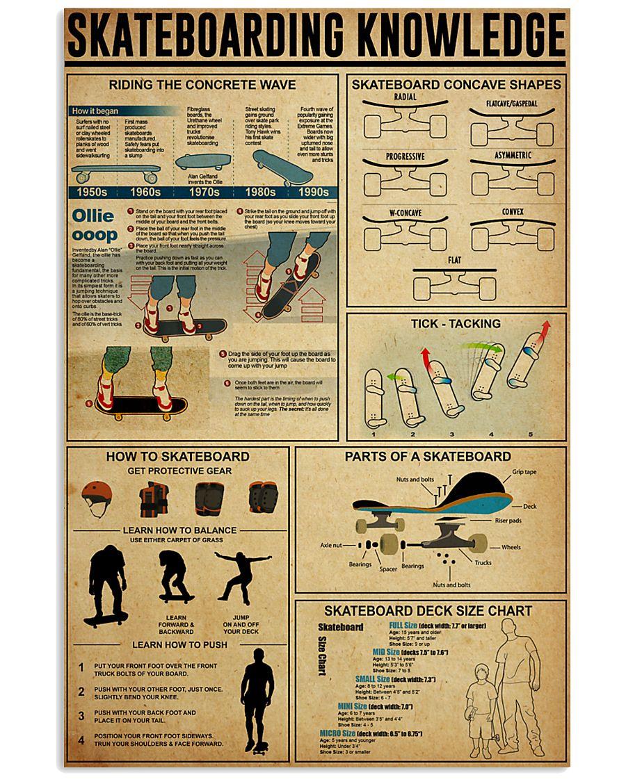 SKATEBOARDING KNOWLEDGE 24x36 Poster