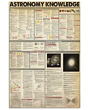 ASTRONOMY KNOWLEDGE 11x17 Poster front