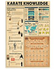 KARATE KNOWLEDGE 24x36 Poster front
