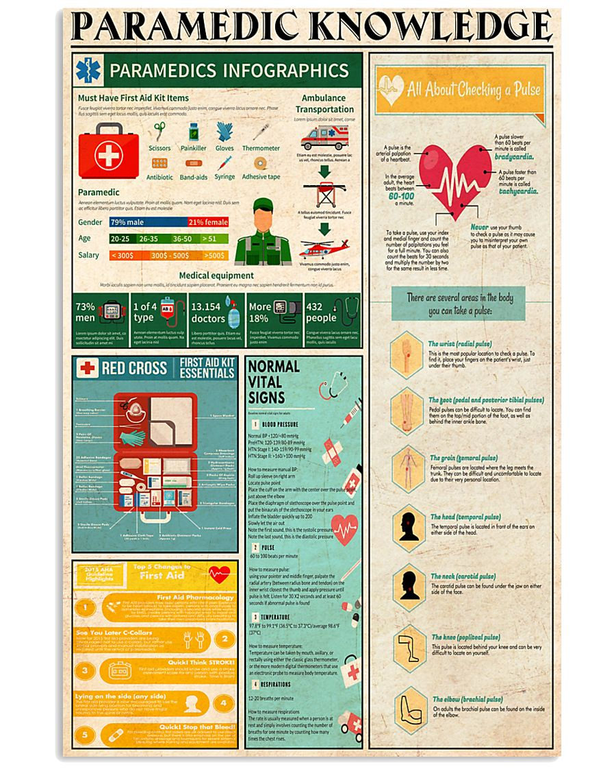 PARAMEDIC KNOWLEDGE 24x36 Poster
