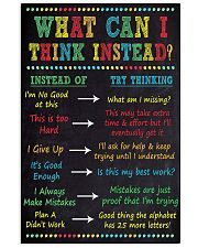WHAT CAN I THINK INSTEAD 11x17 Poster front