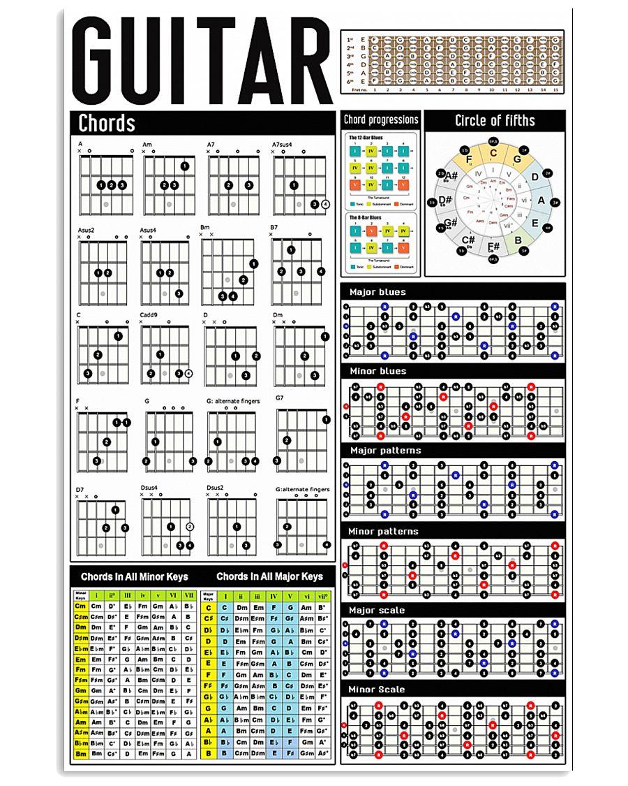 Guitar Chords 11x17 Poster