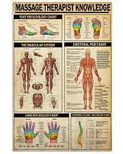 masage therapist 24x36 Poster front