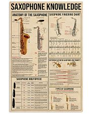 SAXOPHONE Knowledge 11x17 Poster front