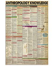 ANTHROPOLOGY KNOWLEDGE 11x17 Poster front