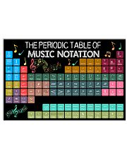 Music Notation 17x11 Poster front