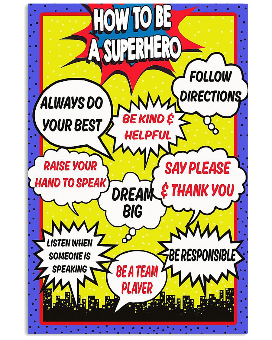 HOW TO BE A SUPERHERO 11x17 Poster