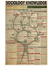 SOCIOLOGY KNOWLEDGE 24x36 Poster front