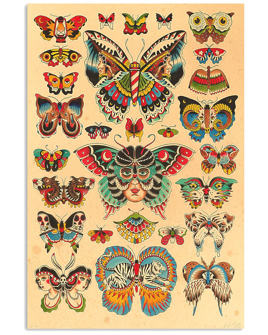Butterfly Tattoo 24x36 Poster