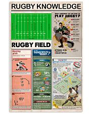 RUGBY KNOWLEDGE 24x36 Poster front