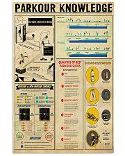 Parkour Knowledge 11x17 Poster front