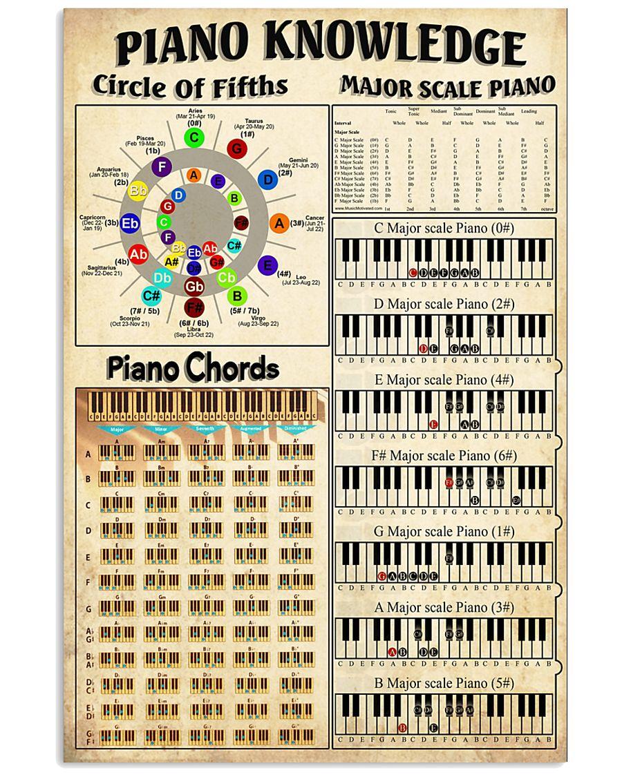 Piano Chord 11x17 Poster