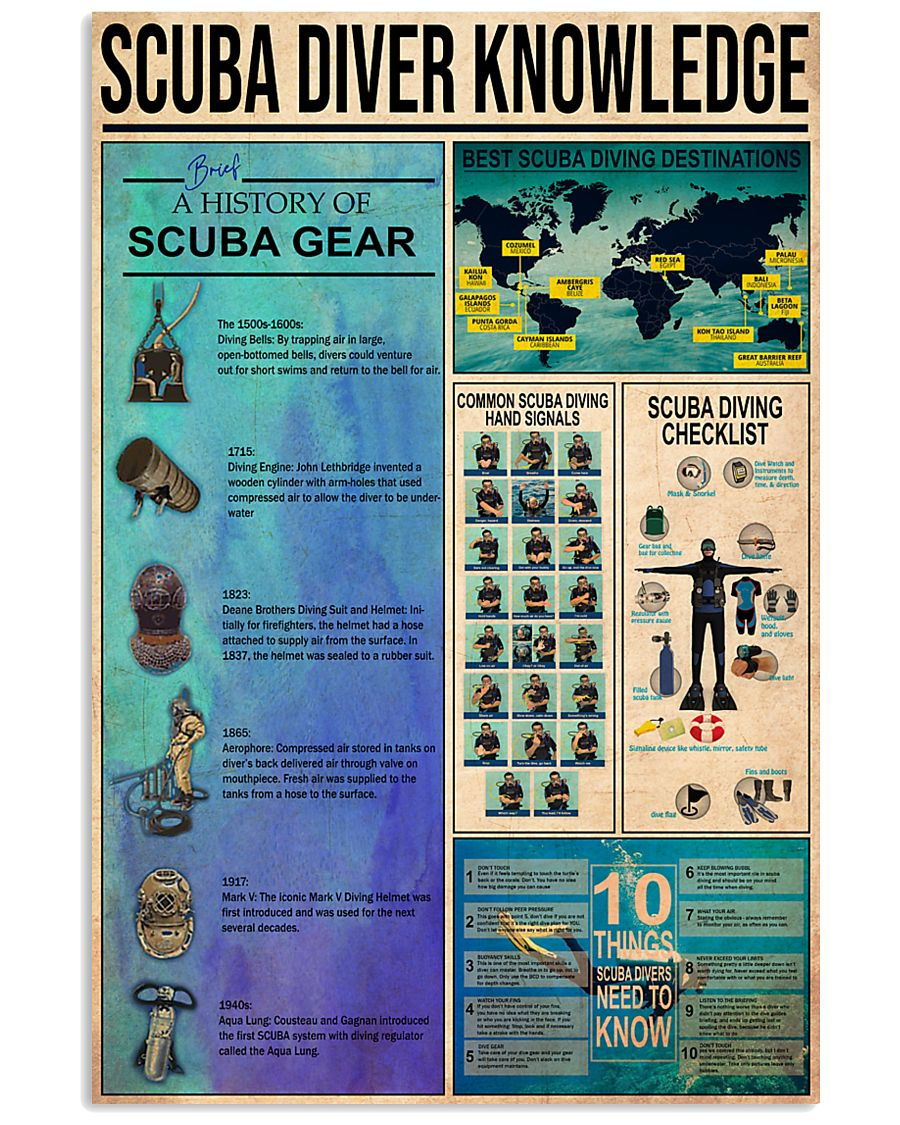 SCUBA DRIVE 24x36 Poster
