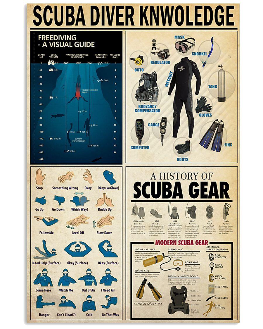 SCUBA DIVER 24x36 Poster