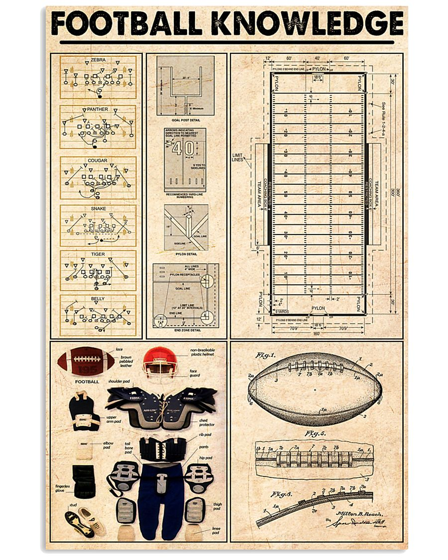 FOOTBALL KNOWLEDGE 24x36 Poster